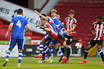 Jake Wright Jnr of Sheffield Utd gets in the mix during the U23 Professional Development League match at Bramall Lane Stadium, Sheffield. Picture date: September 6th, 2016. Pic Simon Bellis/Sportimage
