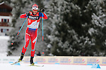 Martin Johnsrud Sundby competes during the 10 Km Individual Free race of Tour de ski as part of the FIS Cross Country Ski World Cup  in Dobbiaco, Toblach, on January 8, 2016. Finn Haagen Krogh wins the stage. Martin Johnsrud Sundby (2nd) remains leader. French Maurice Manificat is third. Credit: Pierre Teyssot