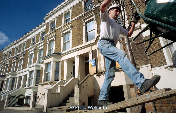 Refurbishment work on houses belonging to Walterton and Elgin Community Homes, a resident-controlled housing association in north Paddington, London.