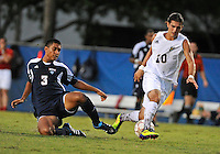 Florida International University men's soccer player Lucas Di Croce (10) plays against Florida Atlantic University on August 28, 2011 at Miami, Florida.  The game ended in a 1-1 overtime tie. .