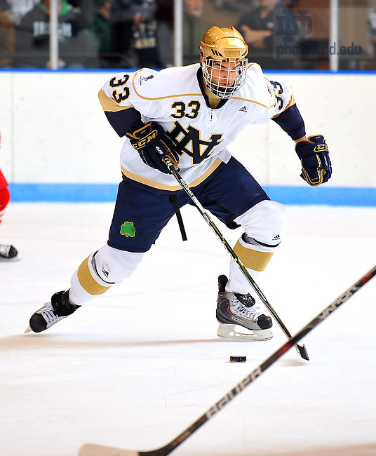 Notre Dame Hockey #33 Joe Lavin..Photo by Matt Cashore/University of Notre Dame