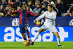 Cristiano Ronaldo of Real Madrid (R) fights for the ball with Cheik Doukoure of Levante UD (L) during the La Liga 2017-18 match between Levante UD and Real Madrid at Estadio Ciutat de Valencia on 03 February 2018 in Valencia, Spain. Photo by Maria Jose Segovia Carmona / Power Sport Images