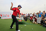 Padraig Harrington gives a golf clinic during Day 3 Saturday of the Abu Dhabi HSBC Golf Championship, 22nd January 2011..(Picture Eoin Clarke/www.golffile.ie)