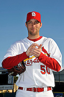 Mar 01, 2010; Jupiter, FL, USA; St. Louis Cardinals pitcher Adam Wainwright (50) during  photoday at Roger Dean Stadium. Mandatory Credit: Tomasso De Rosa/ Four Seam Images