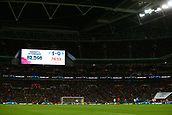 27th March 2018, Wembley Stadium, London, England; International Football Friendly, England versus Italy; Official attendance 82,598 inside Wembley Stadium