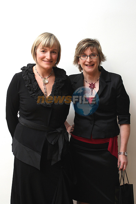 Sarah Daly and Colette Mulholland both from Louth Craft Mark at the Fashion Show at the Highlanes Gallery in aid of the Rape Crisis and Sexual Abuse Centre North East...Photo NEWSFILE/Jenny Matthews.(Photo credit should read Jenny Matthews/NEWSFILE)....This Picture has been sent you under the condtions enclosed by:.Newsfile Ltd..The Studio,.Millmount Abbey,.Drogheda,.Co Meath..Ireland..Tel: +353(0)41-9871240.Fax: +353(0)41-9871260.GSM: +353(0)86-2500958.email: pictures@newsfile.ie.www.newsfile.ie.FTP: 193.120.102.198.