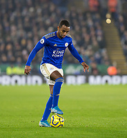 26th December 2019; King Power Stadium, Leicester, Midlands, England; English Premier League Football, Leicester City versus Liverpool; Ricardo Pereira of Leicester City with the ball at his feet - Strictly Editorial Use Only. No use with unauthorized audio, video, data, fixture lists, club/league logos or 'live' services. Online in-match use limited to 120 images, no video emulation. No use in betting, games or single club/league/player publications