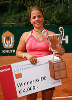 18-8-07, Amsterdam, Tennis, Nationale Tennis Kampioenschappen 2007, Winnaares Renee Reinhard
