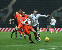Preston North End's Alan Browne wins a free kick from Millwall's Shaun Hutchinson<br /> <br /> Photographer Mick Walker/CameraSport<br /> <br /> The EFL Sky Bet Championship -  Preston North End v Millwall - Saturday 15th December 2018 - Deepdale-Preston<br /> <br /> World Copyright © 2018 CameraSport. All rights reserved. 43 Linden Ave. Countesthorpe. Leicester. England. LE8 5PG - Tel: +44 (0) 116 277 4147 - admin@camerasport.com - www.camerasport.com