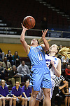 GRAND RAPIDS, MI - MARCH 18: Lauren Dillon (11) of Tufts University attempts a shot during the Division III Women's Basketball Championship held at Van Noord Arena on March 18, 2017 in Grand Rapids, Michigan. Amherst defeated 52-29 for the national title. (Photo by Brady Kenniston/NCAA Photos via Getty Images)