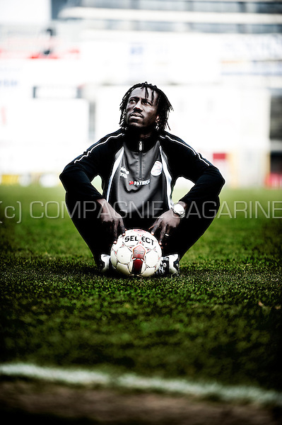 Senegalese football player Mbaye Leye (Belgium, 19/02/2013)