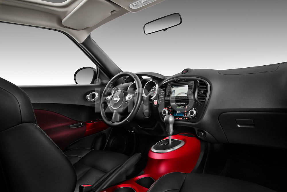Straight Dashboard View 2011 Nissan Juke SV SUV 2 Stock Photo