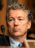 United States Senator Rand Paul (Republican of Kentucky) a member of the US Senate Committee on Health, Education, Labor and Pensions during the hearing  considering the confirmation of Betsy DeVos of Grand Rapids, Michigan to be US Secretary of Education on Capitol Hill in Washington, DC on Tuesday, January 17, 2017.<br /> Credit: Ron Sachs / CNP