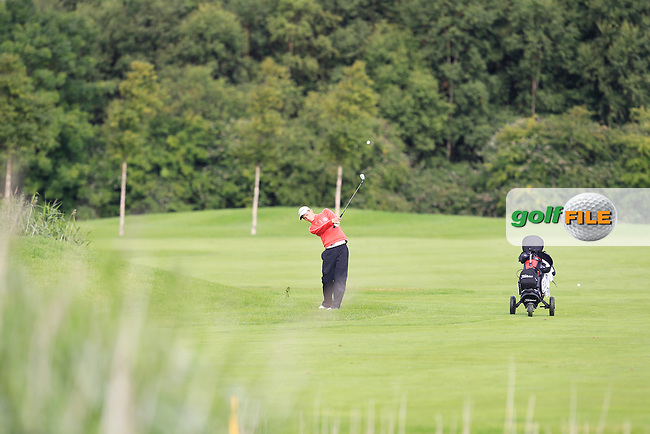 Liam Whelan (Mount Wolseley) on the 8th fairway during Round 3 of the Leinster Boys Amateur Open Championship at Balcarrick Golf Club on Thursday 30th July 2015.<br /> Picture:  Golffile | Thos Caffrey