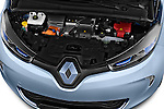 High angle engine detail of a  2013 Renault Zoe Life ZE Hatchback2013 Renault Zoe Life ZE Hatchback