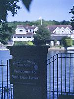 Henley On Thames. Oxfordshire/ Berkshire. United Kingdom. Gateway to the Red Lion Hotel Lawn offering Riverside dining.  26/17.05.2017. General View, River Thames. <br /> <br /> <br /> [Mandatory Credit Peter SPURRIER/Intersport Images]