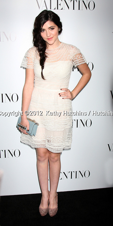 LOS ANGELES - MAR 27:  Isabelle Fuhrman Valentino Beverly Hills Opening at the Valentino Store on March 27, 2012 in Beverly Hills, CA