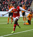 Rotherham United v Wolverhampton Wanderers, 21.12.13<br /> Sky Bet League One<br /> Picture Shaun Flannery/Trevor Smith Photography<br /> Nouha Dicko celebrates his goal for Rotherham.