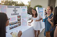 Monica Banks was an intern at the Consulate General of Mexico in L.A. Career Services hosts the Summer Experience Expo, where Occidental College student interns from the InternLA program and INT Internship course shared information about the organizations they worked for over the summer. Sept. 7, 2017 at Thorne Hall patio. Employers were also in attendance.<br /> (Photo by Marc Campos, Occidental College Photographer)