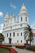 Belem, Para State, Brazil. Cathedral. Catedral da Se. The annual Cirio festival is celebrated here.