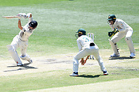 29th December 2019; Melbourne Cricket Ground, Melbourne, Victoria, Australia; International Test Cricket, Australia versus New Zealand, Test 2, Day 4; Henry Nicholls of New Zealand hits out at the ball - Editorial Use