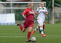 20180815 - Zulte , BELGIUM : Zulte's Amber Bert pictured during a friendly pre season soccer match between the women teams of Zulte Waregem Dames and OHL Oud Heverlee Leuven Dames  , Wednesday 15 August 2018 . PHOTO DAVID CATRY   SPORTPIX.BE