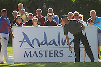 Soren Hansen (DEN) during the 1st day at the  Andalucía Masters at Club de Golf Valderrama, Sotogrande, Spain. .Picture Fran Caffrey www.golffile.ie