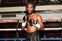 Jeffrey Ofori (black shorts) defeats Jamie Quinn during a Boxing Show at York Hall on 10th February 2018