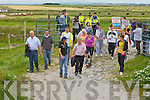 RIGHT OF WAY: The very large group that gathered from all over north Kerry to take part in the Fenit Island Access Committee Protest Walk on Sunday.