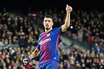 Luis Suarez of FC Barcelona gestures during the La Liga 2017-18 match between FC Barcelona and Deportivo La Coruna at Camp Nou Stadium on 17 December 2017 in Barcelona, Spain. Photo by Vicens Gimenez / Power Sport Images