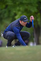 Francesco Molinari (ITA) lines up his putt on 1 during day 5 of the WGC Dell Match Play, at the Austin Country Club, Austin, Texas, USA. 3/31/2019.<br /> Picture: Golffile | Ken Murray<br /> <br /> <br /> All photo usage must carry mandatory copyright credit (&copy; Golffile | Ken Murray)