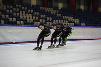 SCHAATSEN: HEERENVEEN: 15-09-2014, IJsstadion Thialf, Topsporttraining, Sven Kramer, Douwe de Vries, ©foto Martin de Jong