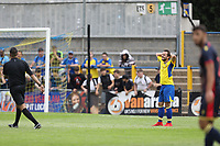Sam Merson of St Albans holds his head after missing a good chance during St Albans City vs Stevenage, Friendly Match Football at Clarence Park on 13th July 2019