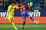 during the match of La Liga between Atletico de Madrid and Villarreal at Vicente Calderon  Stadium  in Madrid, Spain. April 25, 2017. (ALTERPHOTOS/Rodrigo Jimenez) Antoine Griezmann of Atletico de Madrid