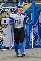 Duke Blue Devil Mascot. The Duke Blue Devils defeated the Pitt Panthers 51-48 at Heinz Field, Pittsburgh Pennsylvania on November 1, 2014.