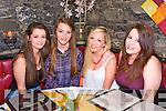 Girls Night Out.  Chloe Kissane, Erin Donlan, Chloe Moriarty, Celine Kissane at Ristorante Uno on Thursday