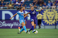 Orlando, FL - Saturday July 16, 2016: Vanessa DiBernardo, Becky Edwards during a regular season National Women's Soccer League (NWSL) match between the Orlando Pride and the Chicago Red Stars at Camping World Stadium.