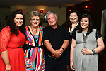 Paulette McArdle pictured at her 50th birthday party in Nano Reids with husband Frank and daughters Claire, Louise and Elaine. www.newsfile.ie