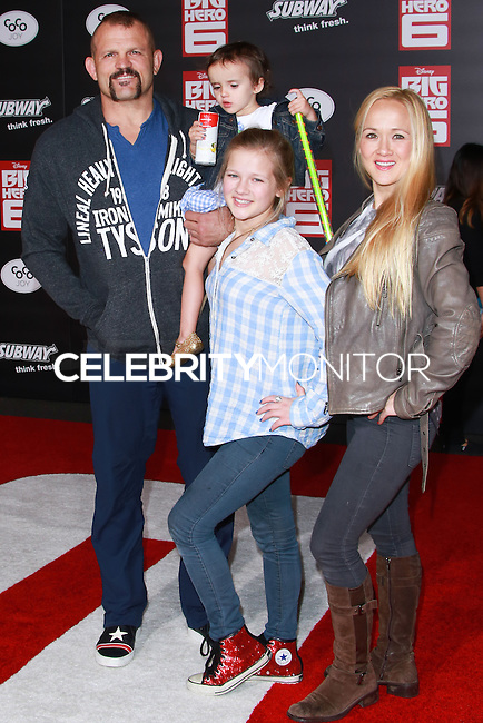 HOLLYWOOD, LOS ANGELES, CA, USA - NOVEMBER 04: Chuck Liddell, Heidi Northcutt arrive at the Los Angeles Premiere Of Disney's 'Big Hero 6' held at the El Capitan Theatre on November 4, 2014 in Hollywood, Los Angeles, California, United States. (Photo by David Acosta/Celebrity Monitor)