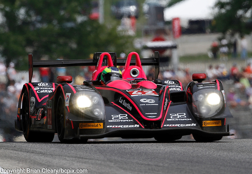 #42 Nissan Morgan, Gustavo Yacaman, Olivier Pla, IMSA Tudor Series Race, Road America, Elkhart Lake, WI, August 2014.  (Photo by Brian Cleary/ www.bcpix.com )
