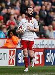 John Brayford of Sheffield Utd during the Sky Bet League One match at The Bramall Lane Stadium.  Photo credit should read: Simon Bellis/Sportimage