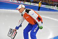 SCHAATSEN: BERLIJN: Sportforum, 08-12-2013, Essent ISU World Cup, Jillert Anema (trainer/coach Team BAM), rondebord, ©foto Martin de Jong