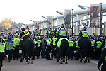 Police separate Arsenal and Tottenham fans during the Premier League match at the Emirates Stadium, London. Picture date November 6th, 2016 Pic David Klein/Sportimage