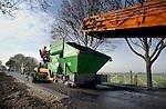 Asfalteren van laag energie asfalt-beton