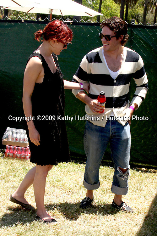 """Rumer WIllis & Guest arriving at """"A Time For Heroes Celebrity Carnival"""" benefiting the Elizabeth Glaser Pediatrics AIDS Foundation at the Wadsworth Theater Grounds in Westwood , CA on June 7, 2009 .©2009 Kathy Hutchins / Hutchins Photo.."""