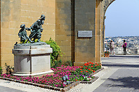 Upper Barracca Garden in Valletta, Malta, Europa, Unesco-Weltkulturerbe