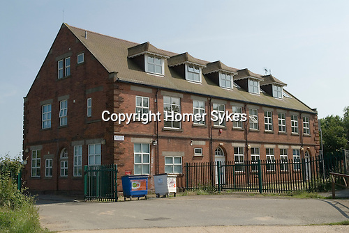 Bettshanger Kent UK. Almond House, the only building that remains from the colliery days. Was used then as a Miners Managment office, now just offices for local Kent businesses.  Kent coalfields colliery closed down in the 1989. Largest colliery in Kent.