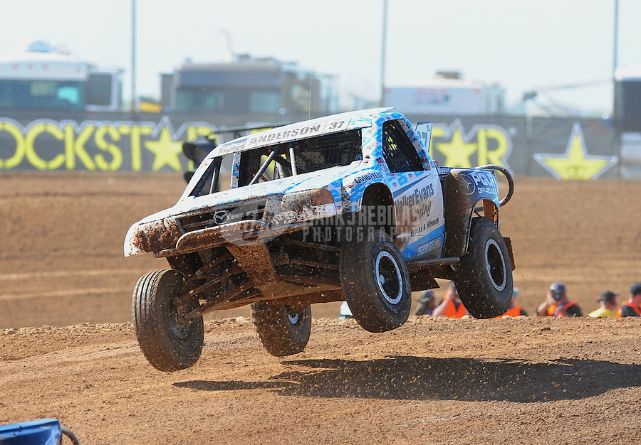 Apr 16, 2011; Surprise, AZ USA; LOORRS driver R.J. Anderson (37) during round 3 at Speedworld Off Road Park. Mandatory Credit: Mark J. Rebilas-.