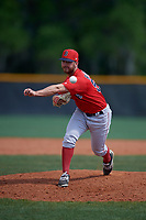 Boston Red Sox pitcher Tanner Raiburn (57) during a Minor League Spring Training game against the Tampa Bay Rays on March 25, 2019 at the Charlotte County Sports Complex in Port Charlotte, Florida.  (Mike Janes/Four Seam Images)