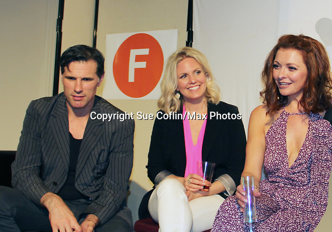 "As The World Turns' Austin Peck, Terri Conn, Anne Sayre at ""The F"" - a Benefit for the film was held on June 22, 2018 at the Freeman Studio, New York City, New York. (Photo by Sue Coflin/Max Photo)"